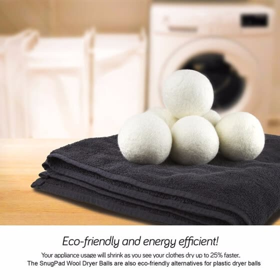 Outdoor Wool Dryer Balls Natural Fabric Softener, Reusable, Reduce Wrinkles, Saves Drying Time