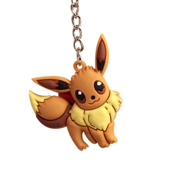 Super Cute Mini Pokemon Pikachu-in-a-Ball Keychain Plush Toy 9 cm