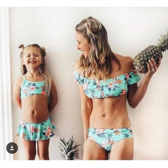 0ddfab3771b Sexy Family Matching Women Girls Bikini Bathing Suit Swimwear Swimsuit  Beachwear
