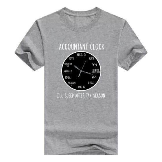 Clock CPA Gift Young Mens T-Shirt