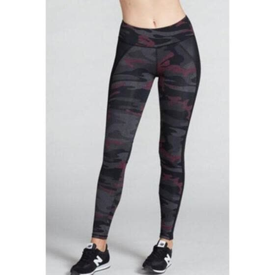 Womens Black Camouflage Pants Camo Casual Cargo Joggers Trousers Hip Hop Rock