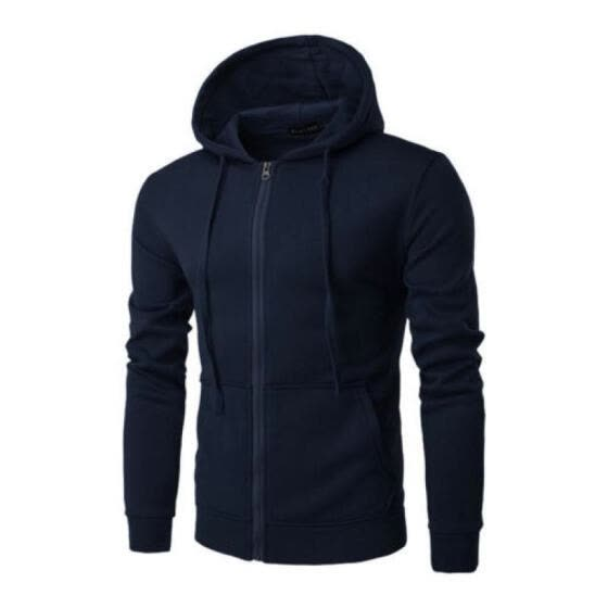 Mens Zip Sweater Hoodie Athletic Running Pullover Sweatershirt Hooded Coat XN