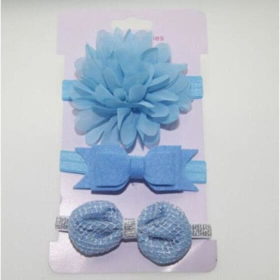 Toddler Baby 3pcs Girls  Flower Bow Infant Beauty Headband Hair Band NEW