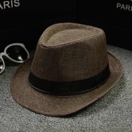 352b5feb567 Unisex Straw Fedora Sun Hat Panama Trilby Crushable Mens Lady Foldable  Travel