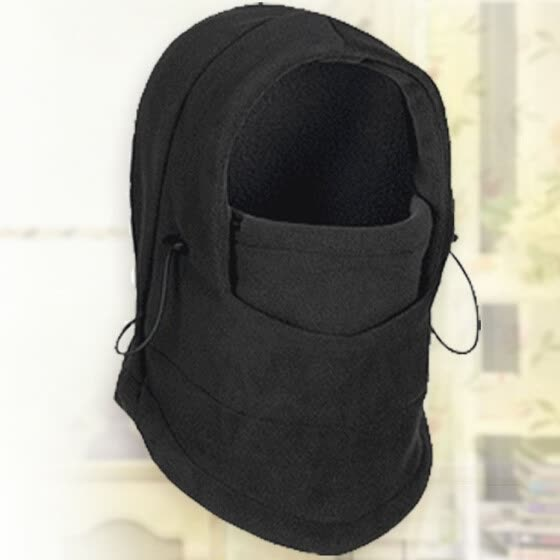 d90f61765b2 Balaclava Hat Hooded Thermal Fleece Neck Warmer Winter Sports Face Mask for  Men Ski Bike Motorcycle