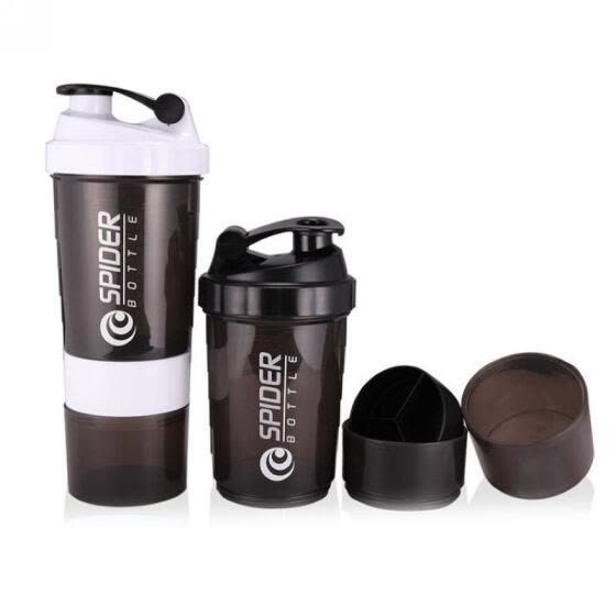 Best 600ml Sport Gym Protein Powder Drink Shaker Plastic Mixer Cup Bottle