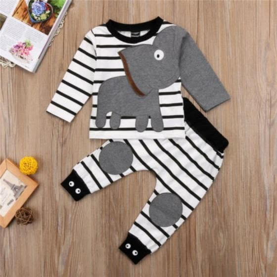 6308ecc0cdbc Newborn Infant Baby Boys Girls Top Rompers+Long Pants Outfits Cotton Clothes  USA