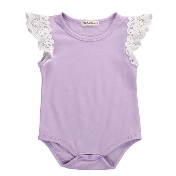 2017 Newborn Toddler Girl Baby Kids Romper Laces Bodysuit Infant Clothes Outfits