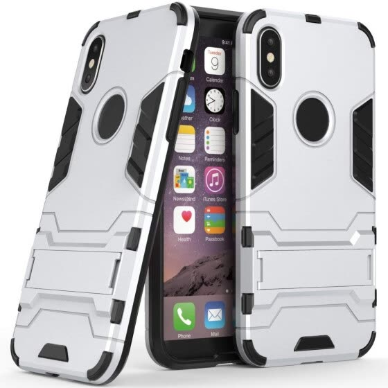 Case for Apple iPhone XS (5.8 inch) 2 in 1 Shockproof with Kickstand Feature Hybrid Dual Layer Armor Defender Protective Cover