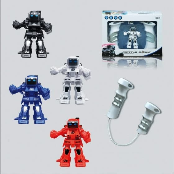 Elegance parent-child toy mini combat RC robot, remote control robot with 2.4 G controller great fun play with friends family  .