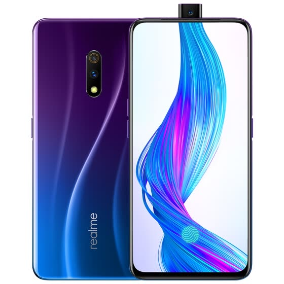 Chinese version Realme X 48 million double camera lift camera screen fingerprint game mobile phone 4GB+64GB punk blue full Netcom dual card