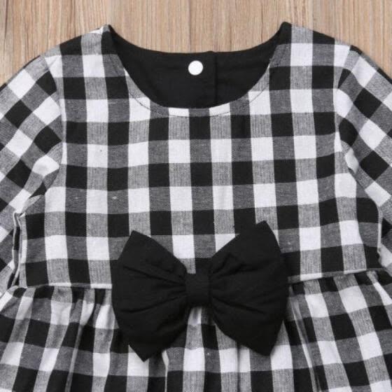 cb18c5fcbba5c Shop US Toddler Kids Baby Girls Autumn Winter Plaid Dress Princess ...