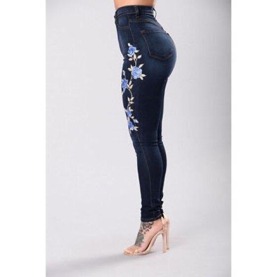 Shop New Womens Ladies Celeb Stretch Ripped Skinny High