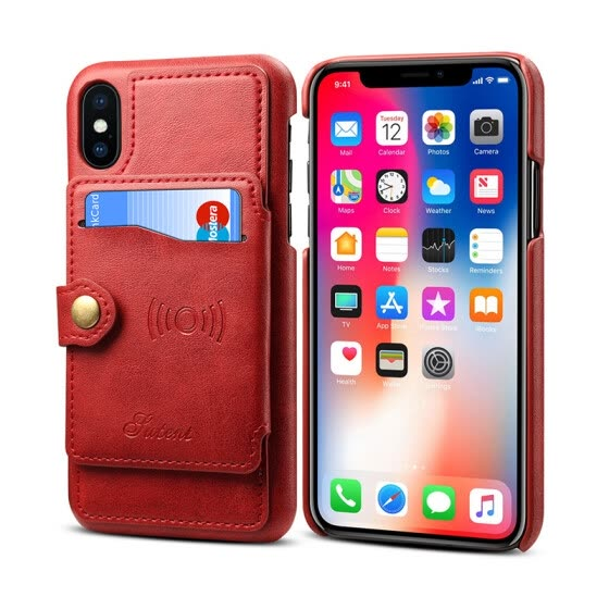 Новый iPhoneXS Max Mobile Case Apple 8plus Cover XR Holster 6s Задняя крышка Red