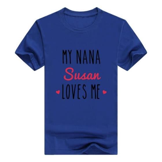 Детские подарки для всех персонализированные бабушки подарок My Nana любит  меня футболка для новорожденных a6bcf3271374d