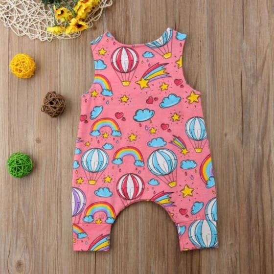 Newborn Baby Boy Girl Rainbow Romper Bodysuit Jumpsuit Summer Clothes Outfits