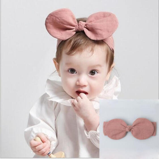 UK Kids Girl Baby Toddler Ploka Dots Bowknot Headband Hair Band Accessories