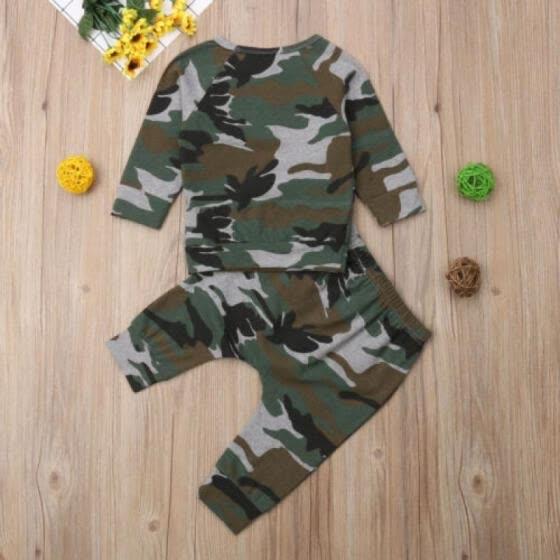 28770433e US Toddler Kids Baby Boy Autumn Outfits Clothes T-shirt Tops+Long Pants 2PCS