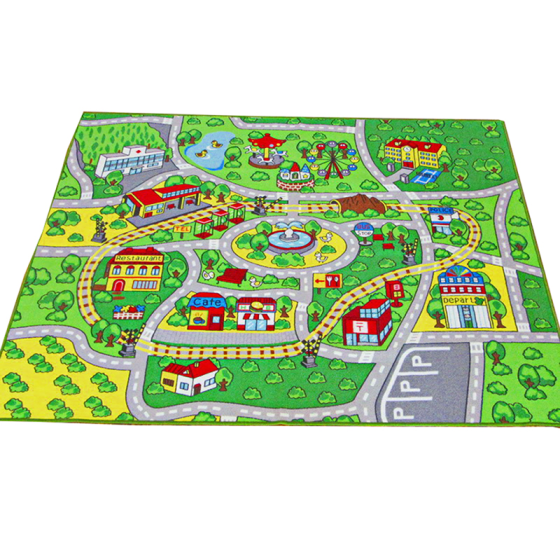 Shop Large Kid Play Rug For Toy Cars Safe And Fun Children Learning