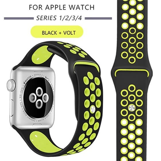Kebbit Sport Silicone Band for Apple Watch Series 4 3 2 1 38mm 42MM 40mm 44MM
