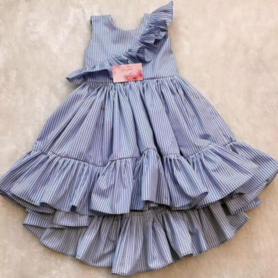 UK Toddler Kids Baby Girls Princess Party Pageant Summer Dress Sundress Clothes