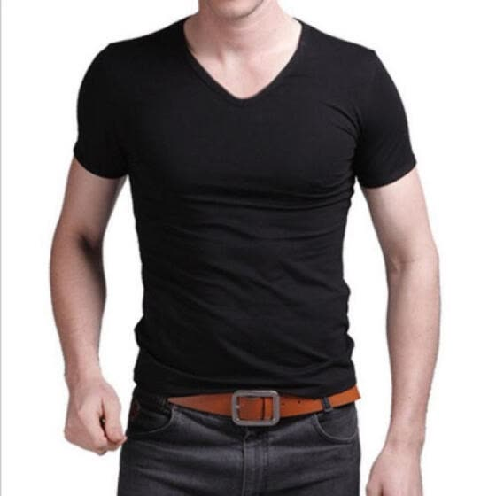 Mens Muscle Bright Short Sleeve Tops Round Neck Summer Slim Fit T-Shirt Blouse