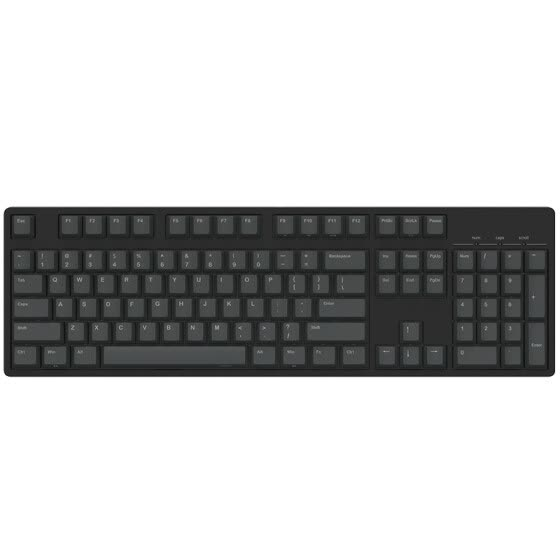 ikbc c104 mechanical keyboard 104 key original cherry shaft, black, black shaft