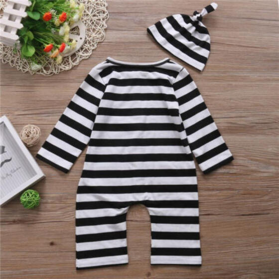 US Newborn Kids Baby Girl Long Sleeve Romper Jumpsuit Bodysuit Outfits Clothes