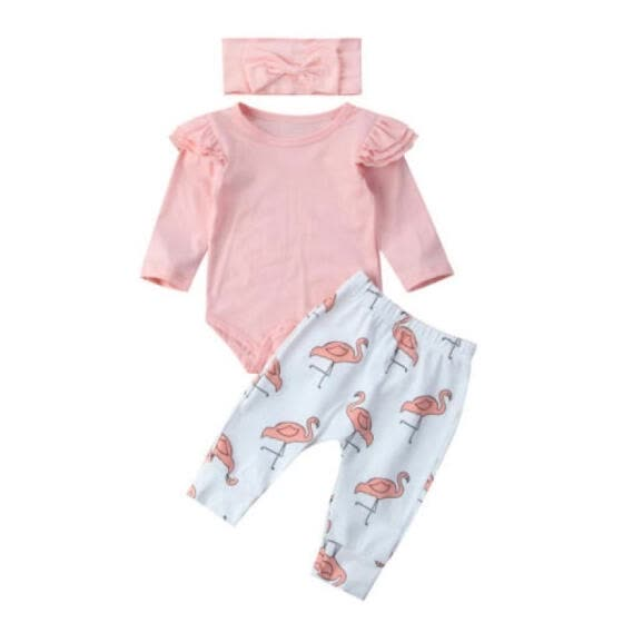 cd01de65d Shop UK Stock Newborn Baby Girl Clothes Romper Shirt Top+Pants ...