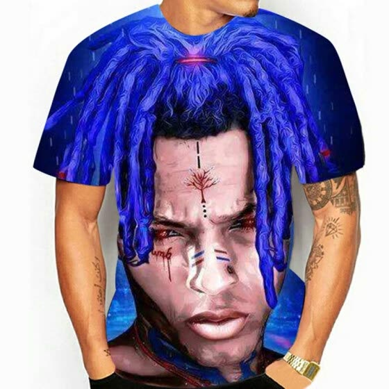 31a552c46 Shop Xxxtentacion T Shirt Sad Rip Streetwear Clout Rapper shirt ...