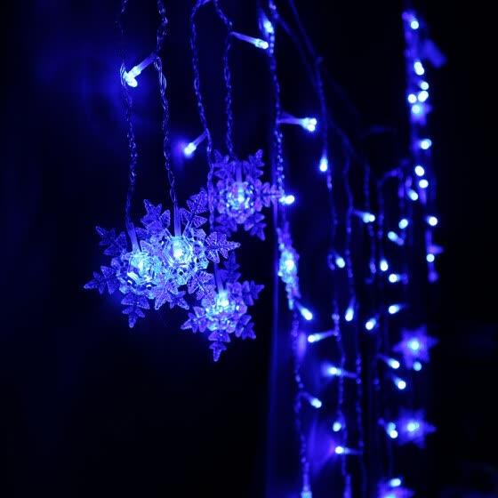 Shop DIY LED Snowflake Hanging String Lights Lamp Parties