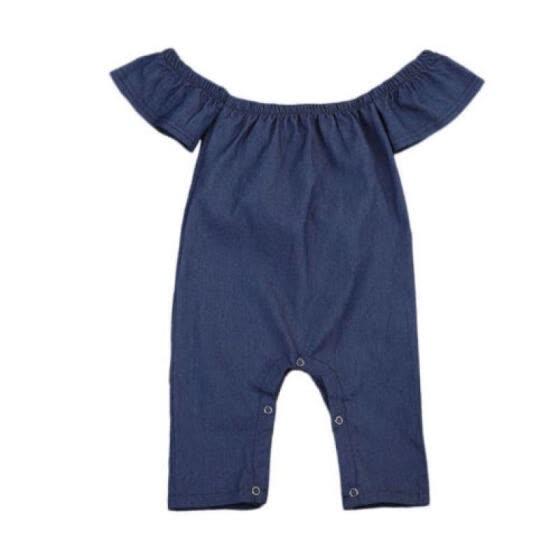 1b52a3deef1d US Newborn Infant Baby Girl Kids Denim Romper Jumpsuit Bodysuit Clothes  Outfits