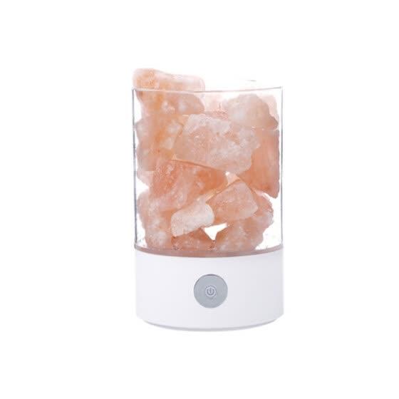 Shop USB Crystal Light Natural Himalayan Salt LED Air Purifier Mood