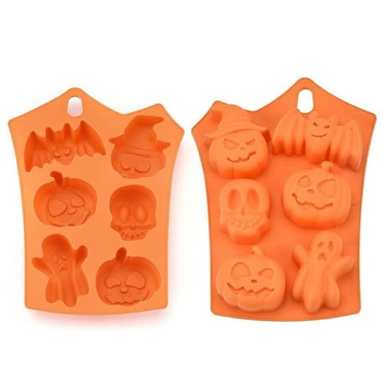 Pumpkin Skull Ghost Bat Non Stick Silicone Cake Molds Kitchen Cooking Baking Tools