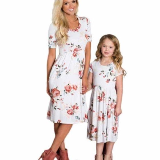 Vestidos casuales para madre e hija