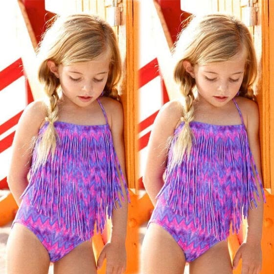 ed0184a5 Kids Girls Swimming Bikini Costume Swimwear Swimsuit Beach Clothes Clothing  Gift
