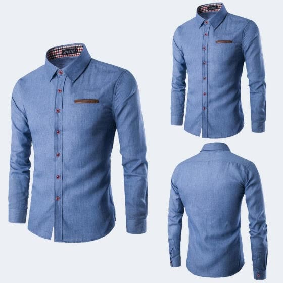 Men's Luxury Casual Formal Shirt Long Sleeve Slim Fit Business Dress Shirts Tops