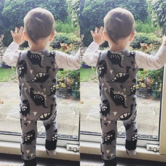 Dinosaur Newborn Infant Baby Boy Girls Romper Bodysuit Jumpsuit Outfits Clothes