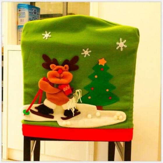 Awesome Shop Merry Christmas Santa Red Hat Dining Chair Back Covers Squirreltailoven Fun Painted Chair Ideas Images Squirreltailovenorg