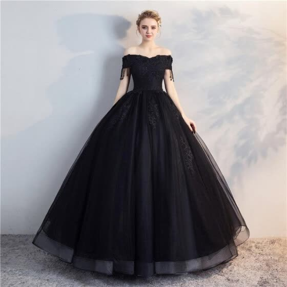 a3c9ec9f4e3 2019 New Luxury Quinceanera Dresses Elegant Boat Neck Lace Embroidery Party  Prom Quinceanera Dress Evening Dress