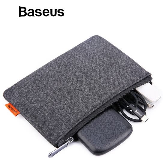 Baseus Cute Phone Bag for Mobile Phone Accessorie USB Cable Earphone Charger Plug Portable Mini Bag for Iphone Samsung Xiaomi