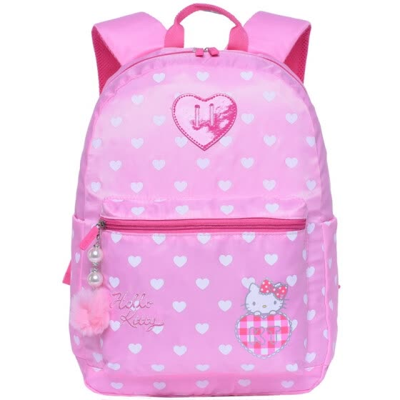 Hello Kitty (hellokitty) children bag cute fresh simple light casual backpack primary school student bag KTM0003B pink
