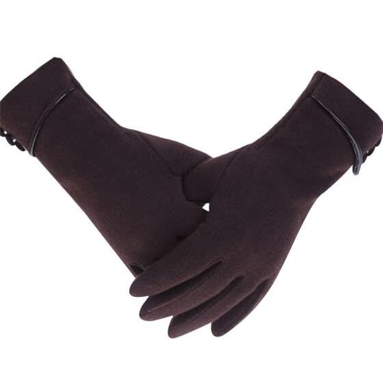 Fashion Women Winter Fleece Lined Velvet Thermal Warm Gloves Touch Screen Mitten
