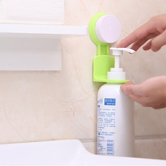 Home Strong Suction Cup Sucker Shower Shampoo Bathroom Wall Rack Hooks Stand