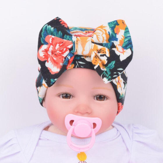 1X Newborn Baby Infant Girl Toddler  Comfy Bowknot Hospital Cap Beanie Hat JDUK