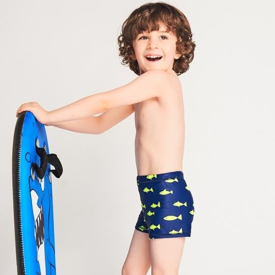 04ec8492afea0 Yizi children's swimwear boys swim trunks baby hot spring swimming trunks  small children's boxer shorts EZI18B020