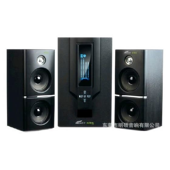 Exports the United States ST-306 LED EAGLE computer speaker 2.1 bass gun home theater wooden sound