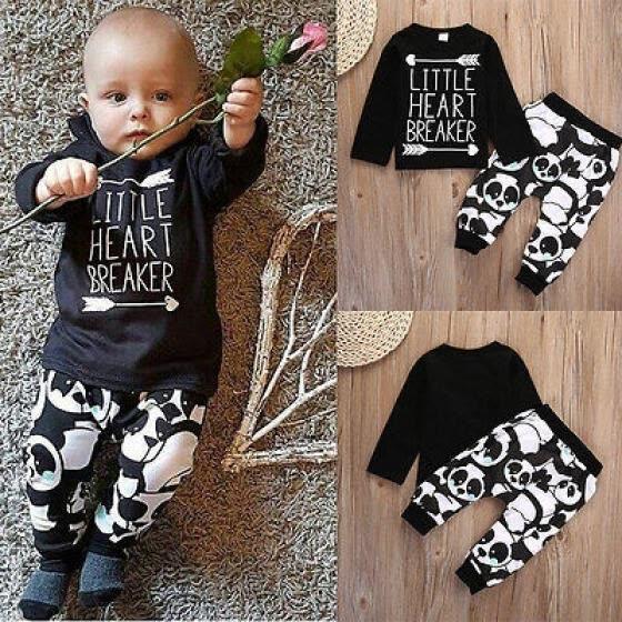 Recién nacido bebé Niño Niña Camiseta De Manga Larga + Pantalón Leggings Conjunto