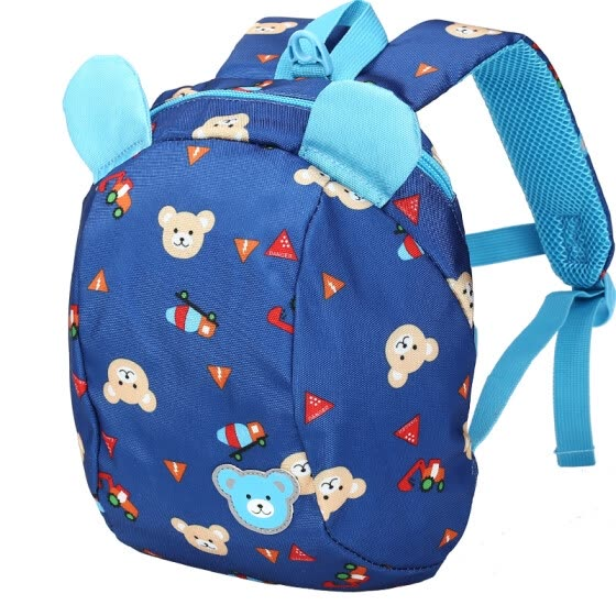 [Jingdong supermarket] Cara sheep (Carany) cute cartoon children backpack primary school students shoulder bag 1-3-5 year old male and female fluorescent warnings burden children's bag C6007 deep blue bear