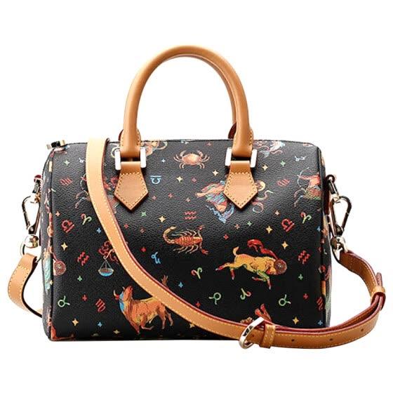 Trajan (TRAJAN) constellation fashion explosion bag handbag Messenger bag  TM512-12 black 0c9b0d8b104aa